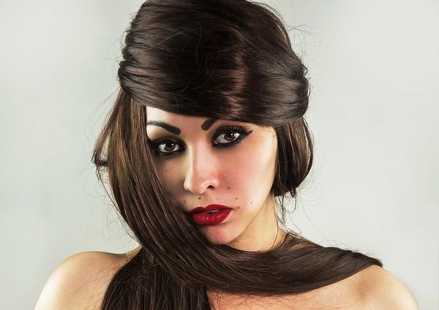 glittering hair